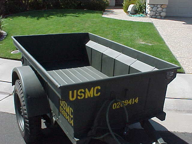 World War Ii Jeep Trailer Before Retored To Usmc Wwii Jeep